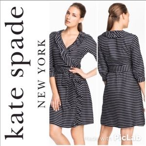 ♠️ Kate Spade Classic Black & White wrap dress ♠️